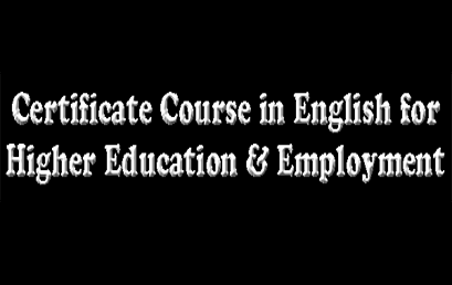 Certificate Course in English