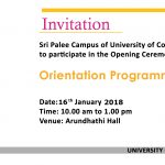 Orientation Programme – 2018