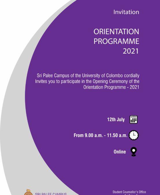 Orientation Programme -2021