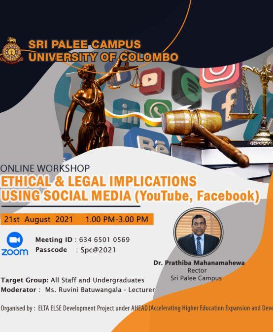 Ethical and Legal Implications of using Social Media (YouTube, Facebook)